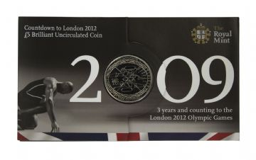 2009 COUNT DOWN TO THE OLYMPICS £5 COIN Long Sleeve